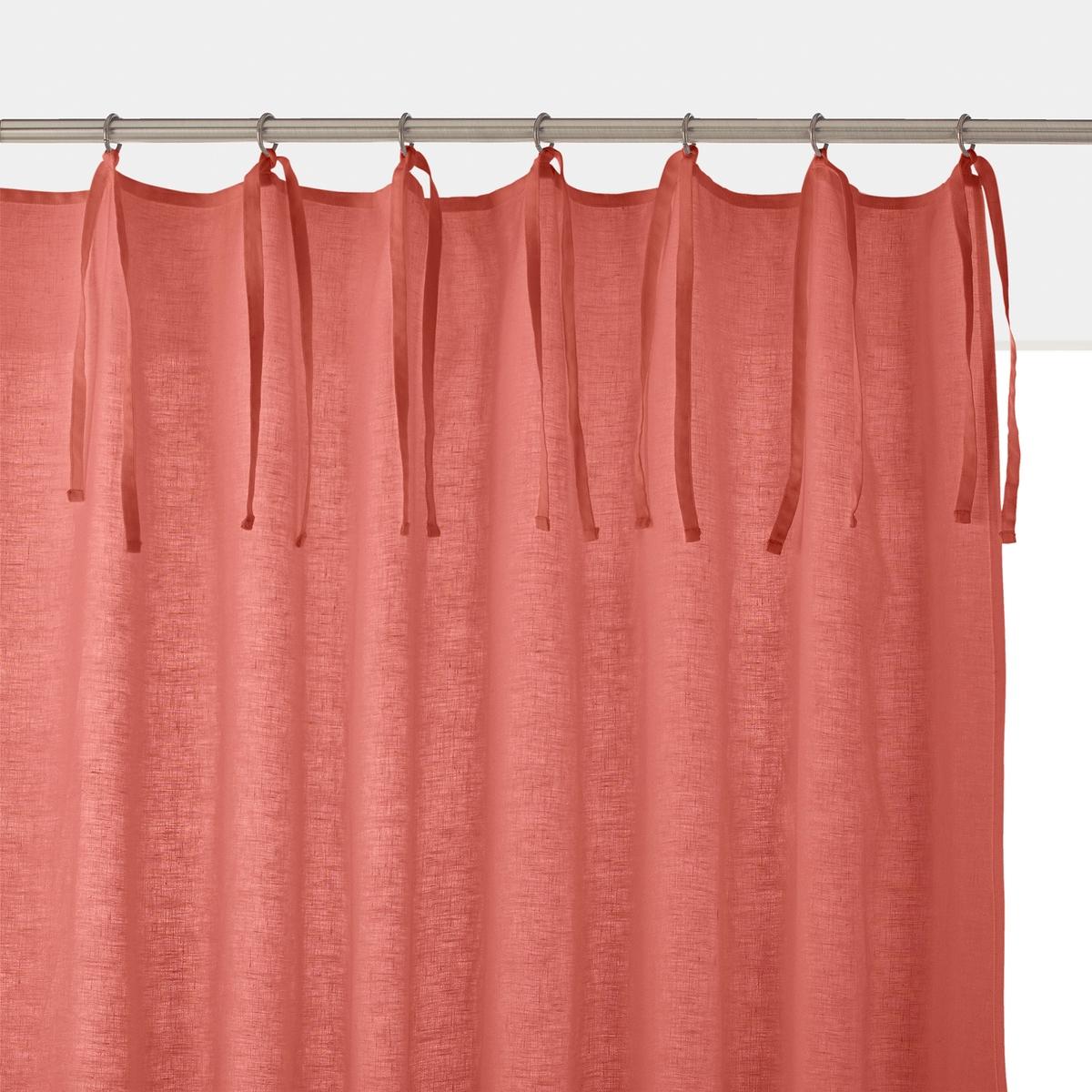 Штора из льна и вискозы с завязками, ODORIE футболка с украшением 55% льна