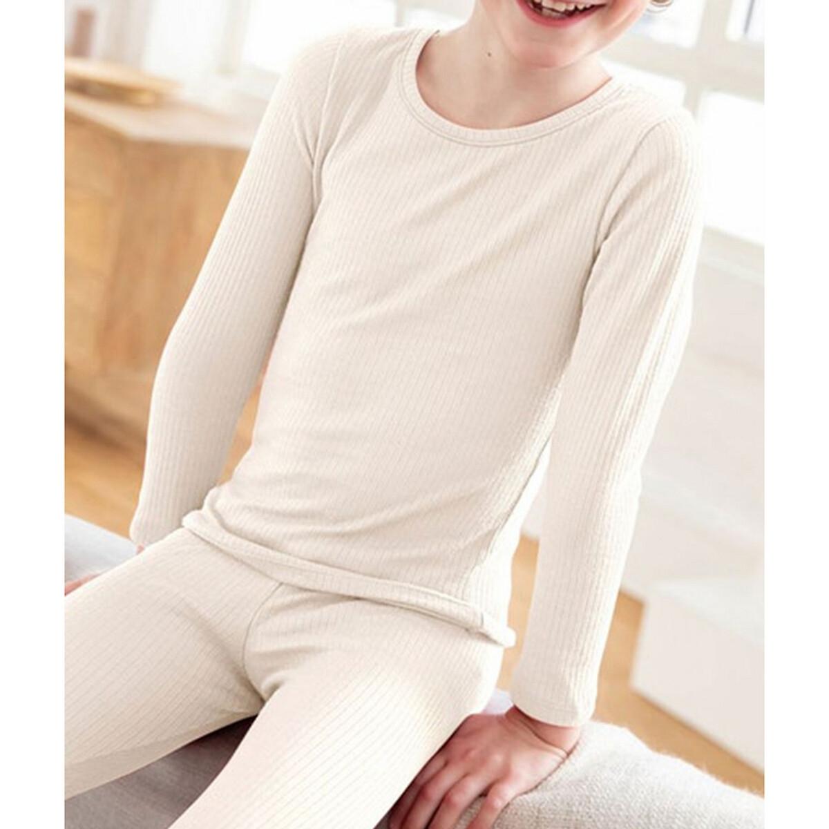 Фото - Футболка LaRedoute С длинными рукавами Thermolacty 2-14 лет 8 лет - 126 см белый рубашка laredoute джинсовая 3 12 лет 8 лет 126 см синий