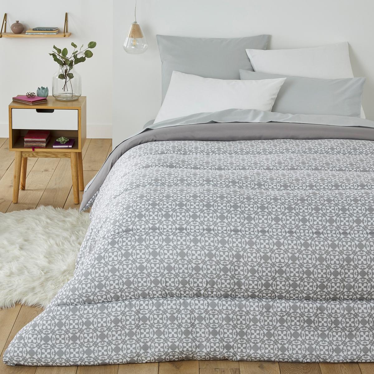 Фото - Одеяло LaRedoute С принтом Yucatan 140 x 200 см серый одеяло laredoute pratique 100 полиэстер высшего качества 200 x 200 см белый