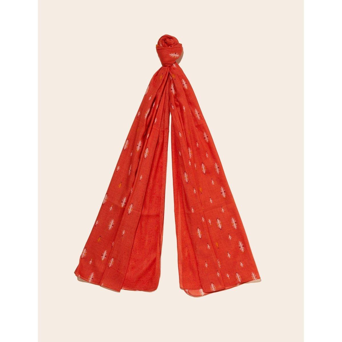 Foulard coton imprimé et uni Nilona