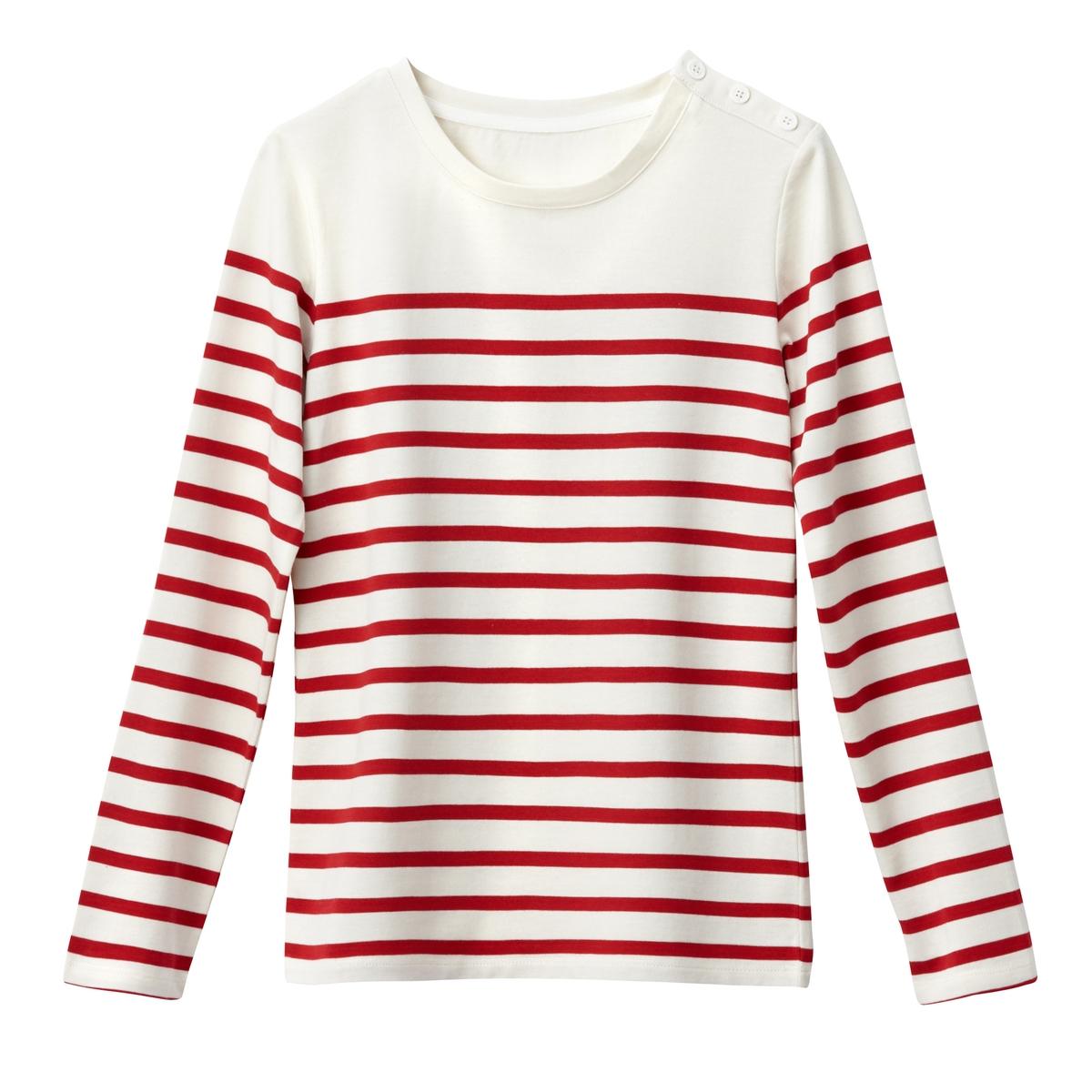 T-shirt alla marinara, maniche lunghe Coton Bio