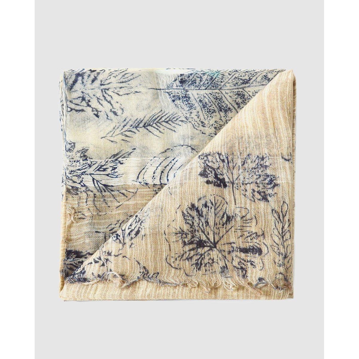 Foulard rectangulaire  à imprimé végétal