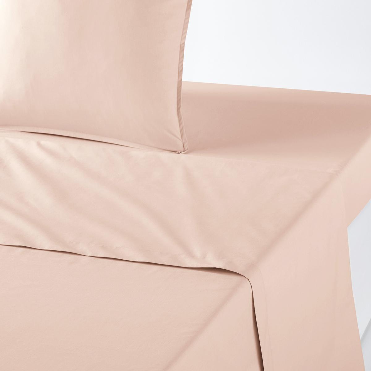 Простыня La Redoute Из перкали из биохлопка 150 x 250 см розовый наволочка la redoute из перкали из биохлопка 50 x 70 см зеленый
