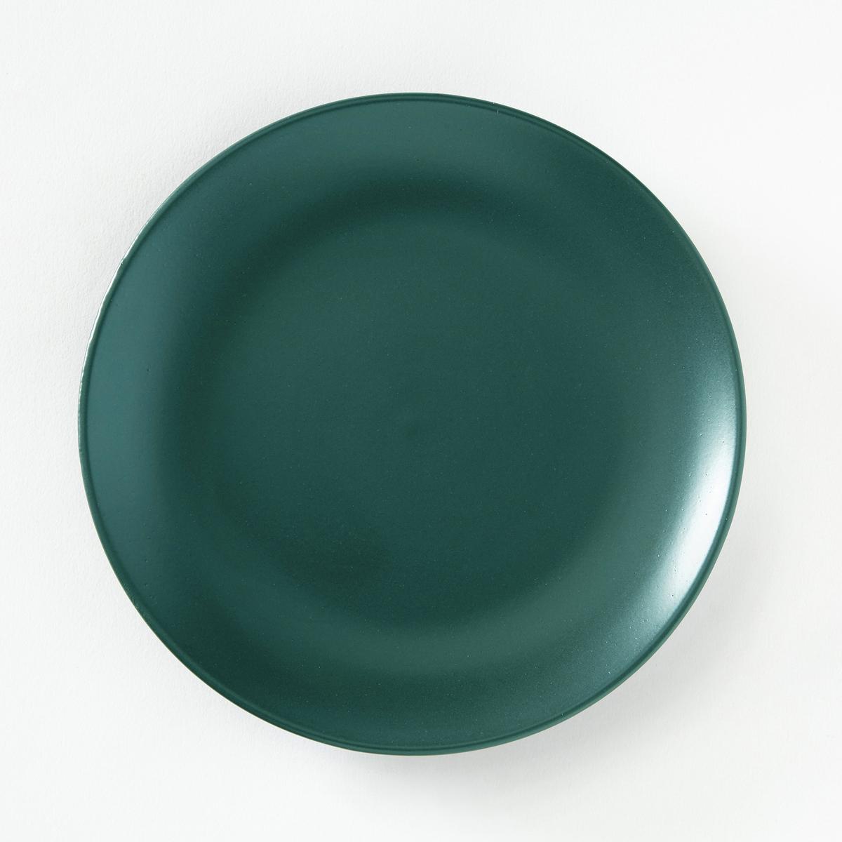 4 тарелки десертные из матовой керамики, AbessiХарактеристики 4 десертных тарелок из матовой керамики Abessi :- Из керамики с матовой отделкой  .- Диаметр 20 см  .- Можно использовать в посудомоечных машинах и микроволновых печах.Плоские и глубокие тарелки Abessi продаются на нашем сайте .<br><br>Цвет: зеленый