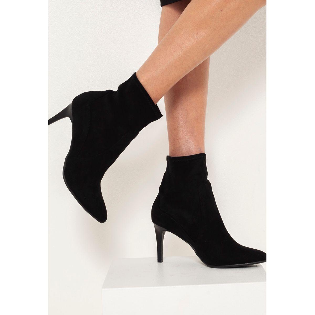 Boots à talons suédine