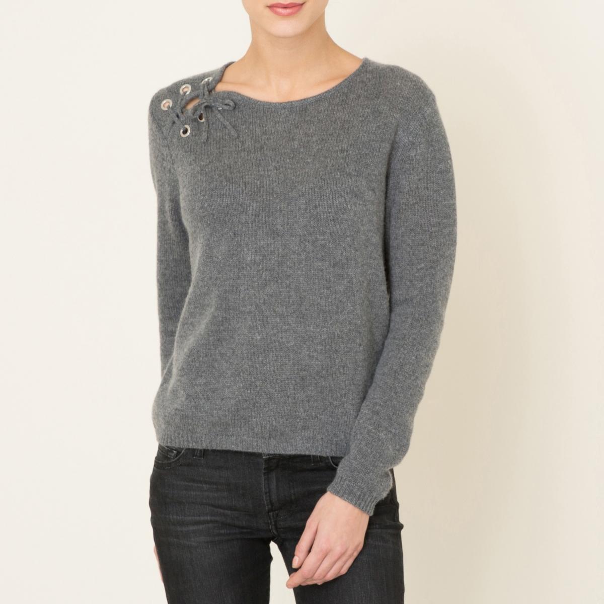 Пуловер IDYLLEСостав и описание    Материал : 100% кашемир   Длина до середины спины : 56 см   Марка : BA&amp;SH<br><br>Цвет: серый меланж