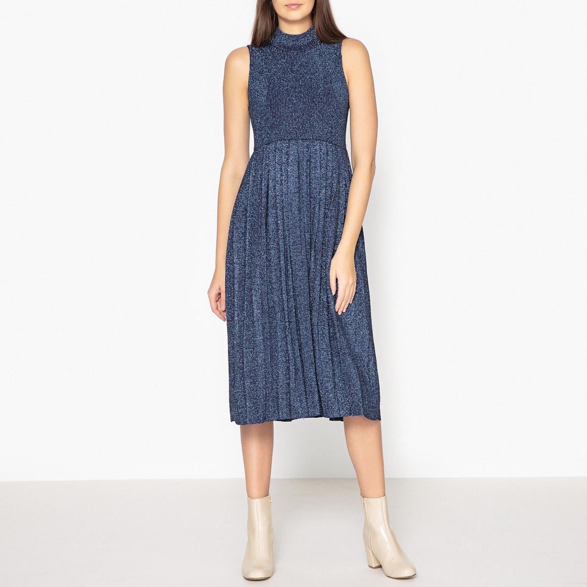 купить Платье удлинённое из ребристого трикотажа недорого