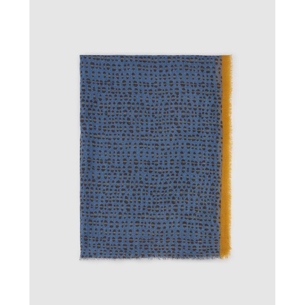Foulard en laine imprimé avec cadre