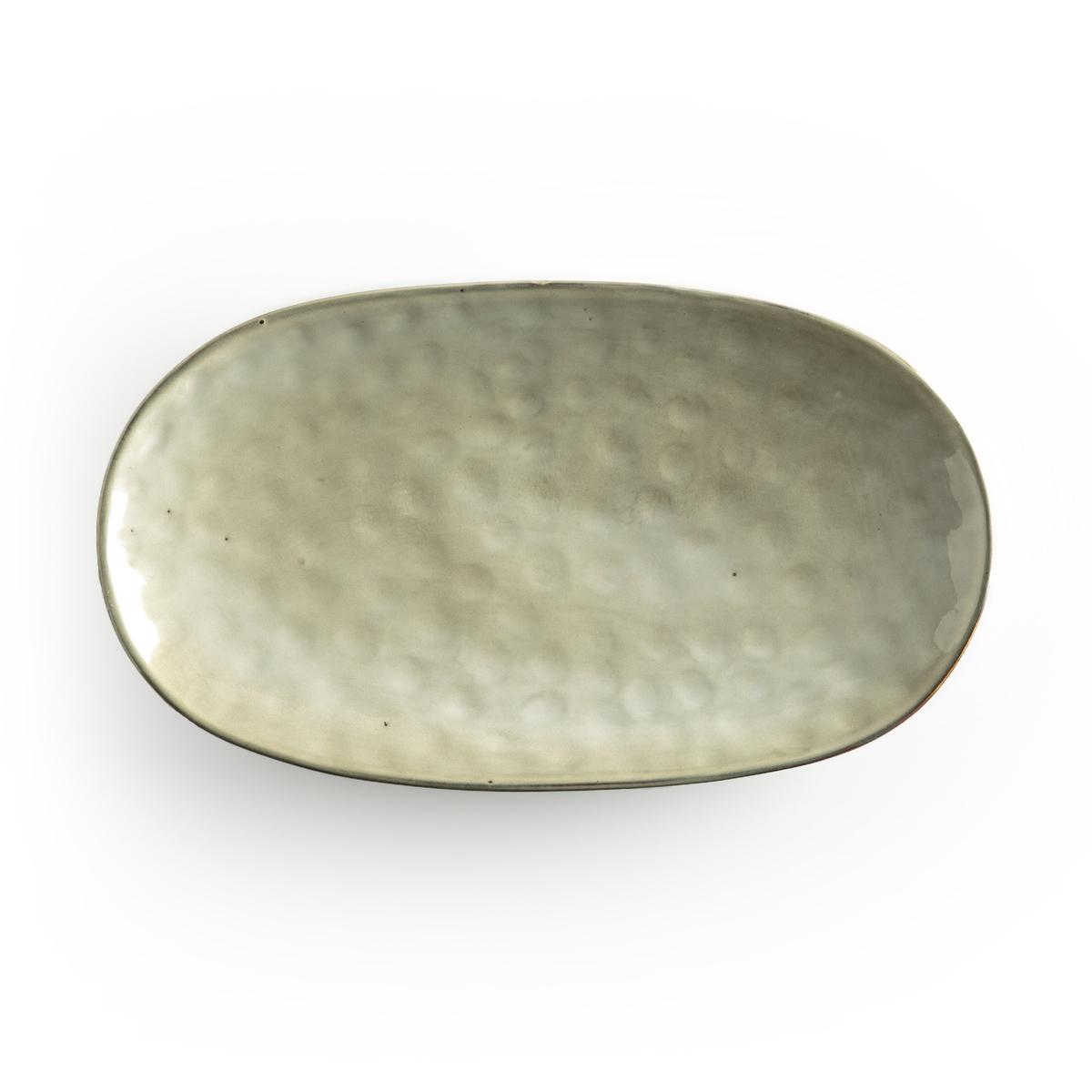 Блюдо La Redoute Сервировочное из керамики Horciag единый размер зеленый чашки la redoute из керамики shima единый размер зеленый