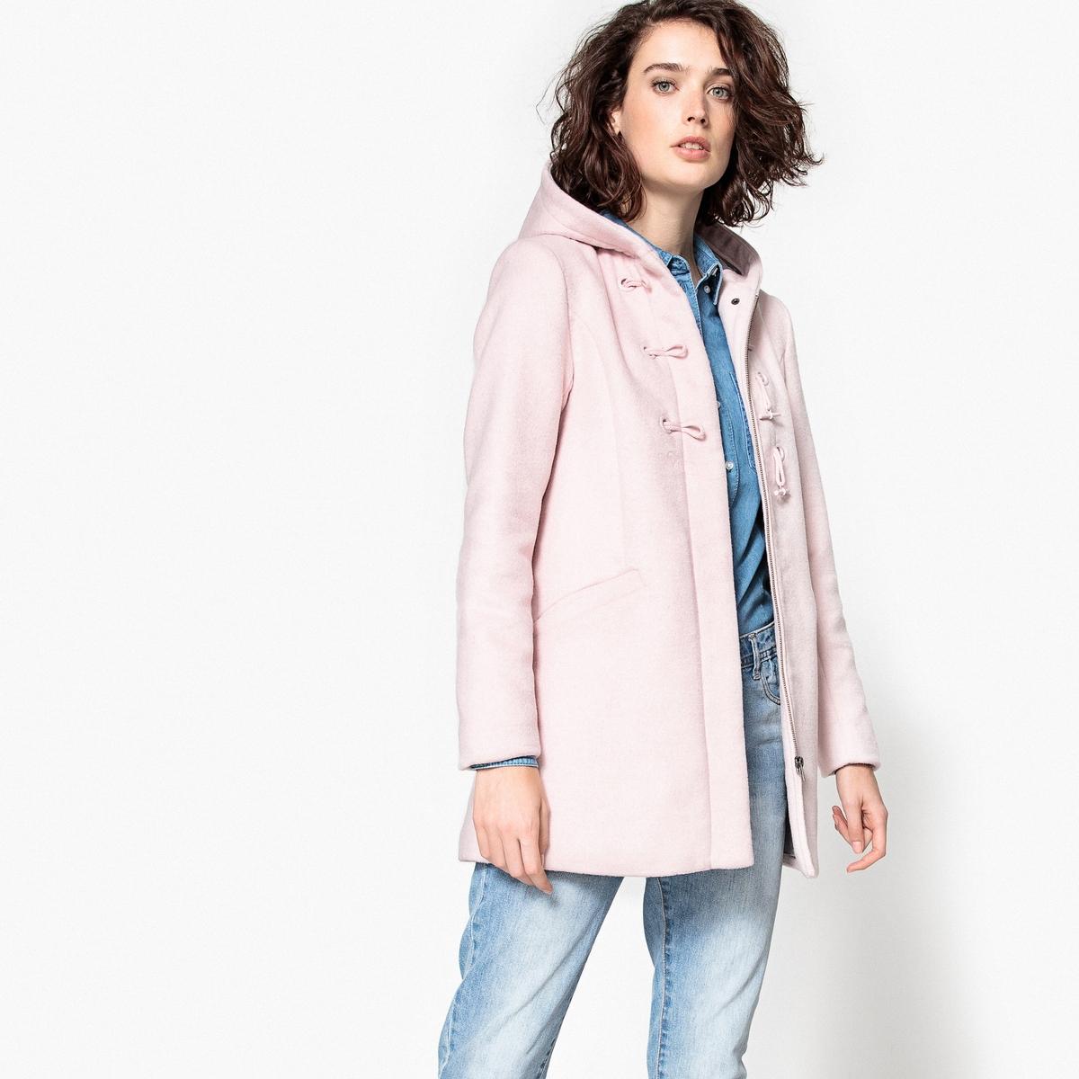 Короткое пальто с капюшономОписание:Пальто из смесовой шерсти, прямой покрой с фигурными пуговицами . Полностью на подкладке.Детали •  Длина : средняя •  Капюшон •  Застежка на крючок •  С капюшономСостав и уход •  40% шерсти, 5% других волокон, 55% полиэстера •  Подкладка : 100% полиэстер • Не стирать •  Деликатная чистка/без отбеливателей •  Не использовать барабанную сушку   •  Не гладить •  Длина : 80 см<br><br>Цвет: розовое драже,серый меланж<br>Размер: 34 (FR) - 40 (RUS).34 (FR) - 40 (RUS).40 (FR) - 46 (RUS).46 (FR) - 52 (RUS).40 (FR) - 46 (RUS)