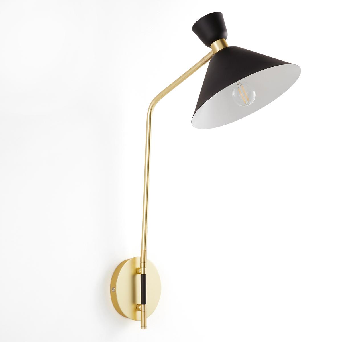 Бра ZoticusБра Zoticus. В обновленном стиле 50-х годов, который добавит очаровательную нотку вашему интерьеру благодаря сочетанию черного металла и латуни. Абажур и ножку можно поворачивать для направленного света.Характеристики:- Из черного металла и латуни- Патрон E14 для флуокомпактной лампы макс. 8 Вт, продается отдельно.- Совместим с лампами класса энергопотребления A.Размеры:- Ш37 x В62 x Г23 см<br><br>Цвет: черный/латунь