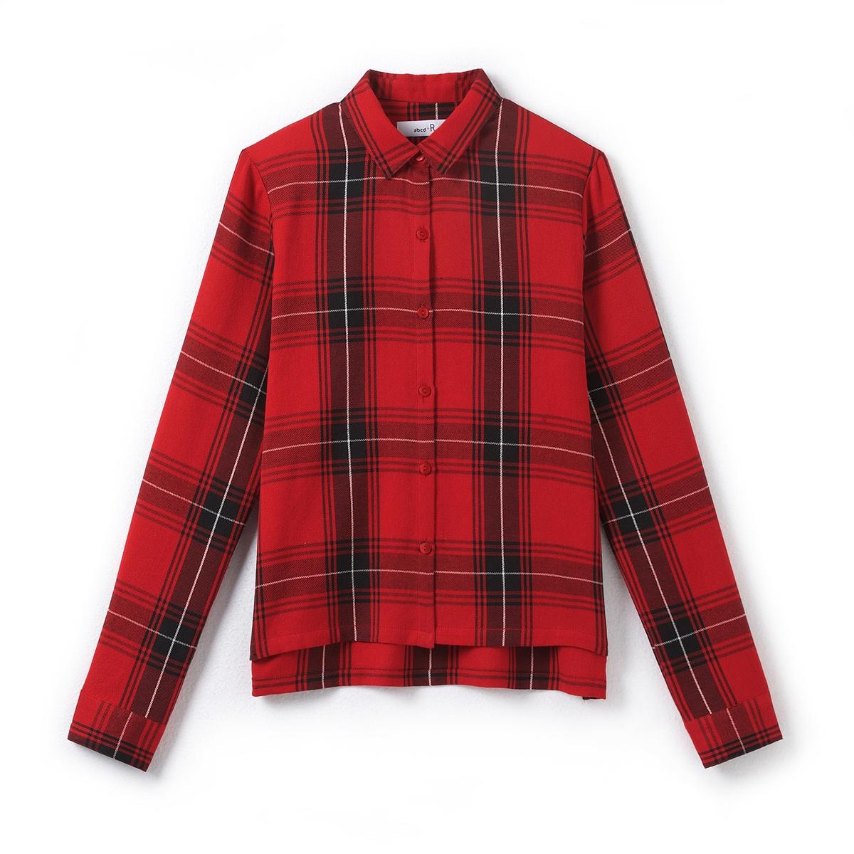 Рубашка классическая для девочек из хлопка