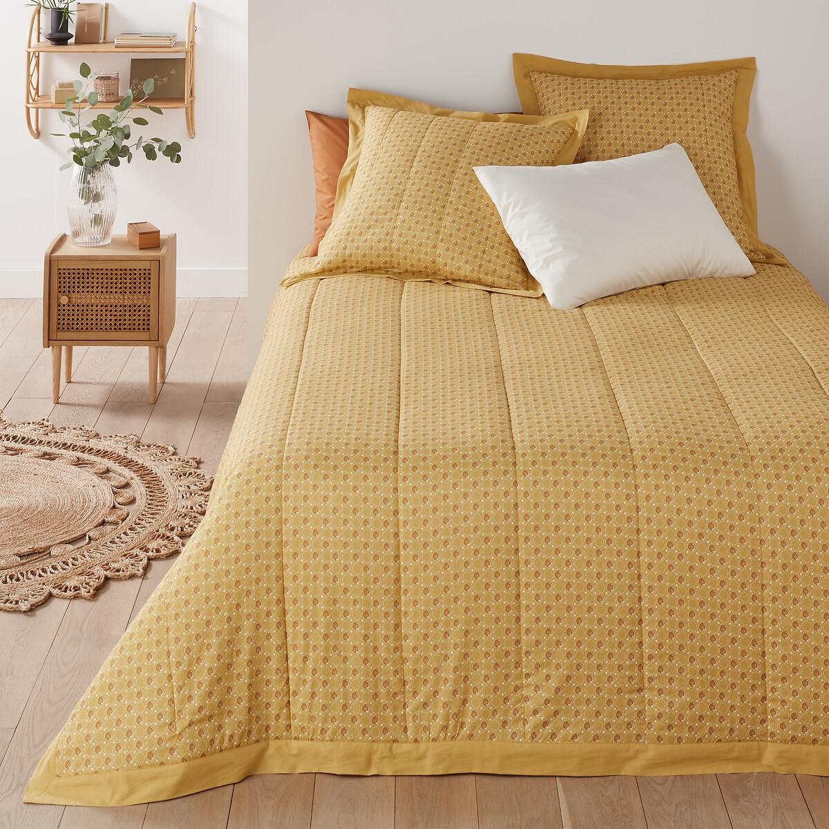 Покрывало LaRedoute Стеганое из 100 хлопковой вуали Tracy 230 x 250 см желтый