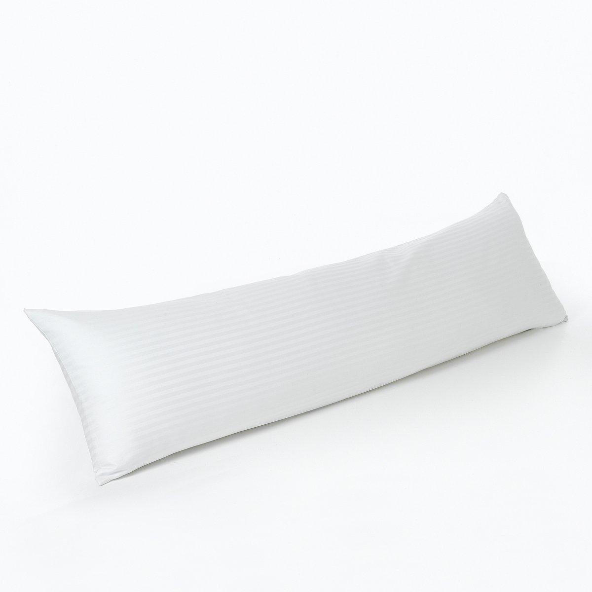 Подушка-валик плоская, StanПодушка-валик плоская с обработкой против клещей, Stan. Обработка против клещей и против пятен для вашего комфорта.    Комфорт: - Непревзойденный комфорт. Подходит тем, кто заботится о здоровье шейного отдела позвоночника.Наполнитель:- Наполнитель из полых силиконовых волокон, создающих максимальный объем, предотвращает накопление влаги: он облегчает циркуляцию воздуха, благодаря воздухопроницаемой структуре. - Обработка против клещей Proneem®, 100% натуральных активных компонентов.Чехол:- Двойной чехол с обработкой против пятен T?flon®.- Внешний чехол из 100% хлопка (с рисунком в полоску в тон). Внешний чехол легко снимать и стирать. - Внутренний чехол из поликоттона.Уход:- Стирать при 40°C. - Сушка при умеренной температуре. Размер: Длина 160 x диаметр 40 см.Производство: Франция.<br><br>Цвет: экрю