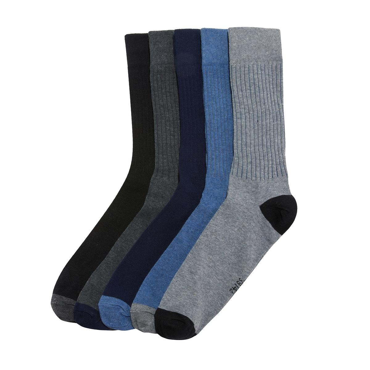 Комплект из 5 пар однотонных носков 5 пар низких носков