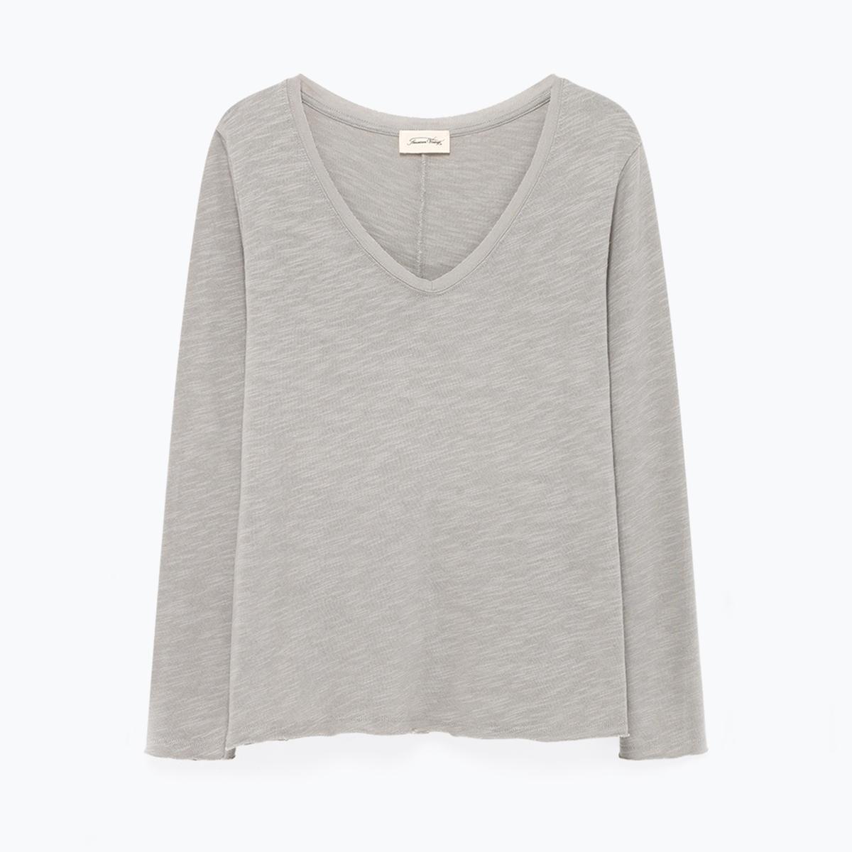 Imagen principal de producto de Camiseta con cuello de pico, manga larga SONOMA - American Vintage