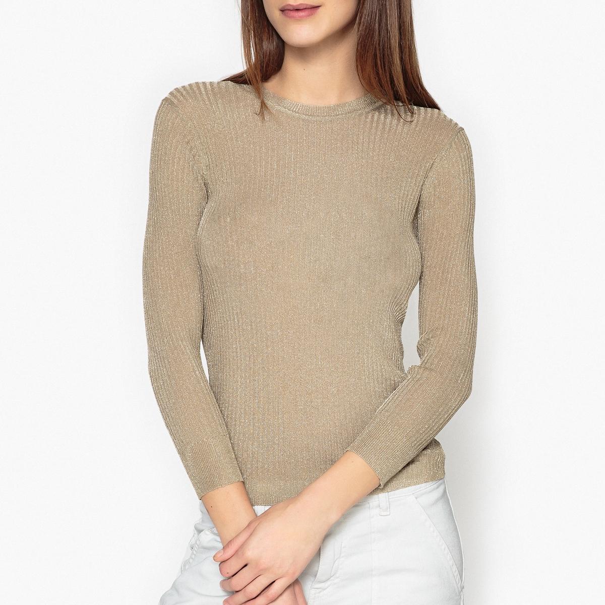 Пуловер из тонкого трикотажа с блестящей вставкой  HEAVEN
