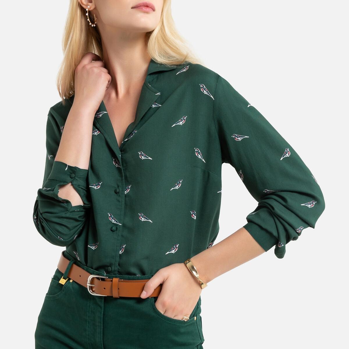 Image of Animal Print Shirt with Long Sleeves