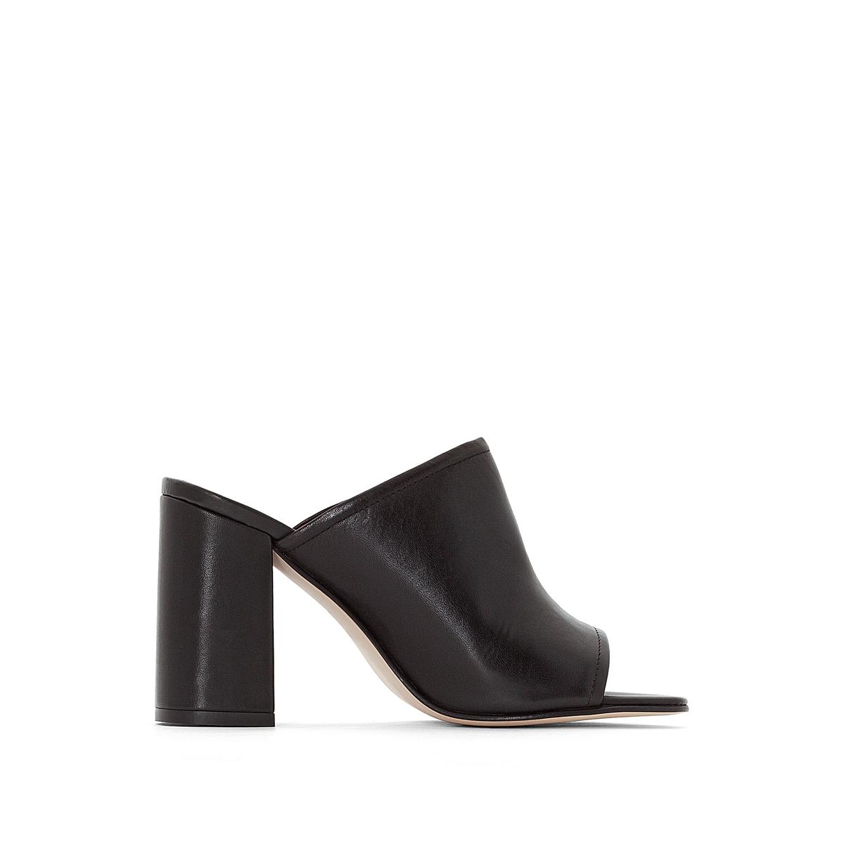Туфли без задника кожаные Demario