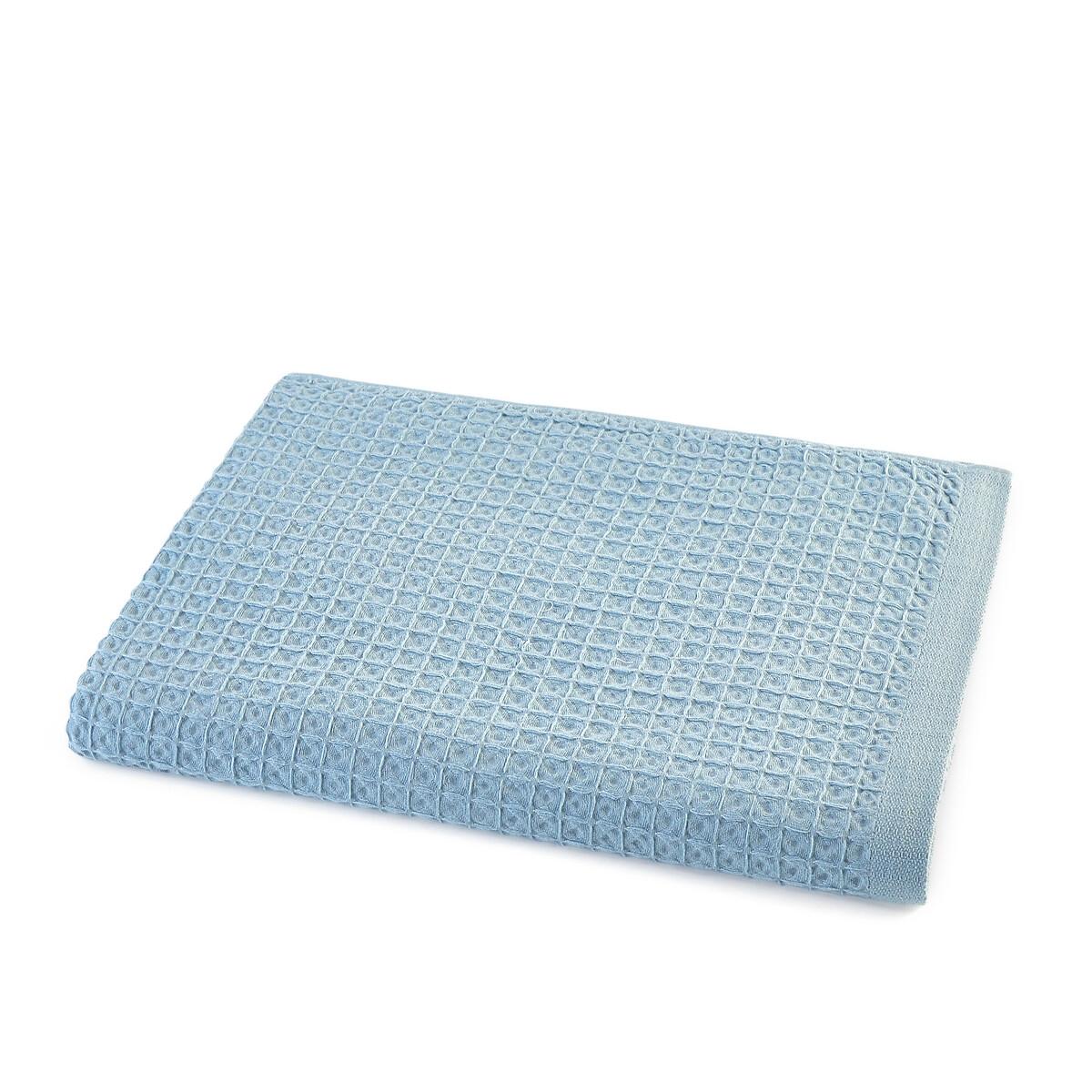Полотенце La Redoute Макси из гофрированного хлопка Wafflie 100 x 150 см синий полотенце proffi home классик цвет шоколадный 50 x 100 см