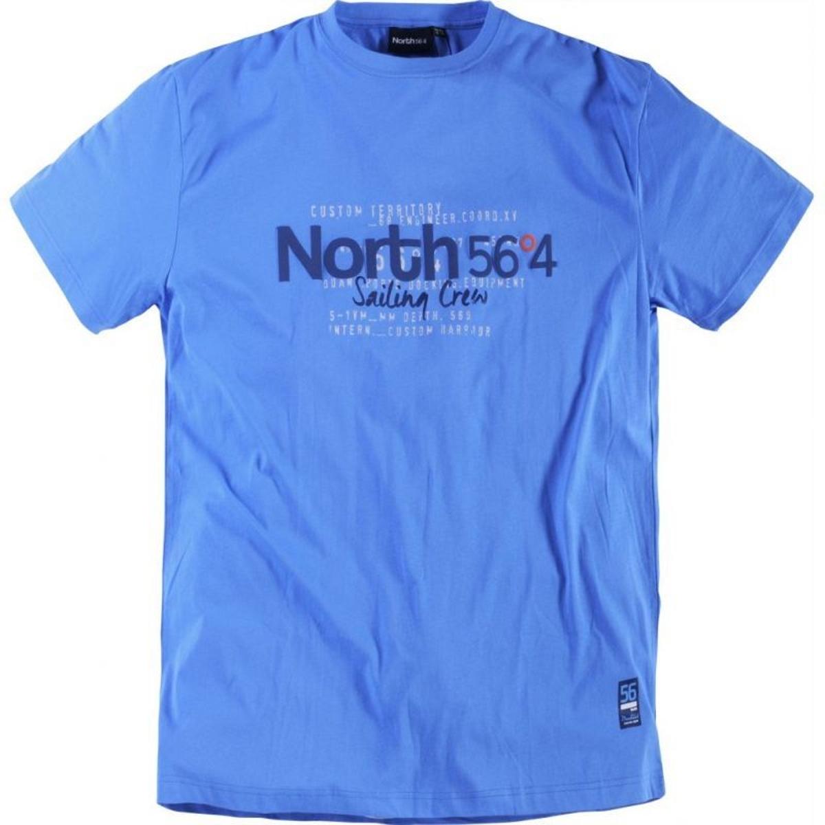 T-shirt col rond north bleu