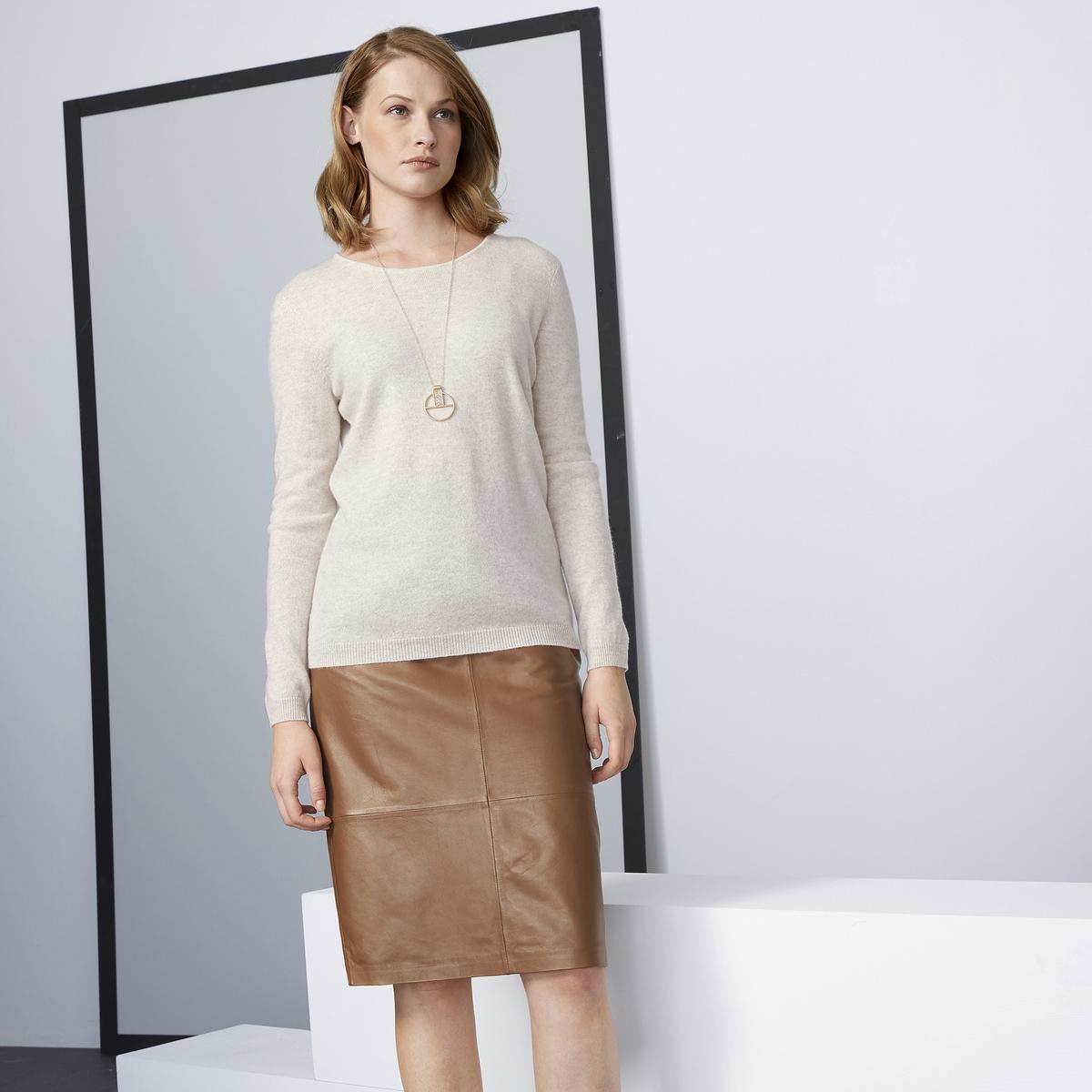 Imagen principal de producto de Falda recta de piel, semilarga - Anne weyburn