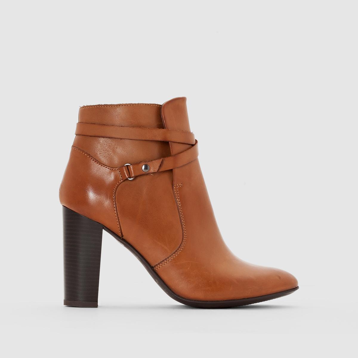 Ботинки кожаные на каблуке от La Redoute Collections