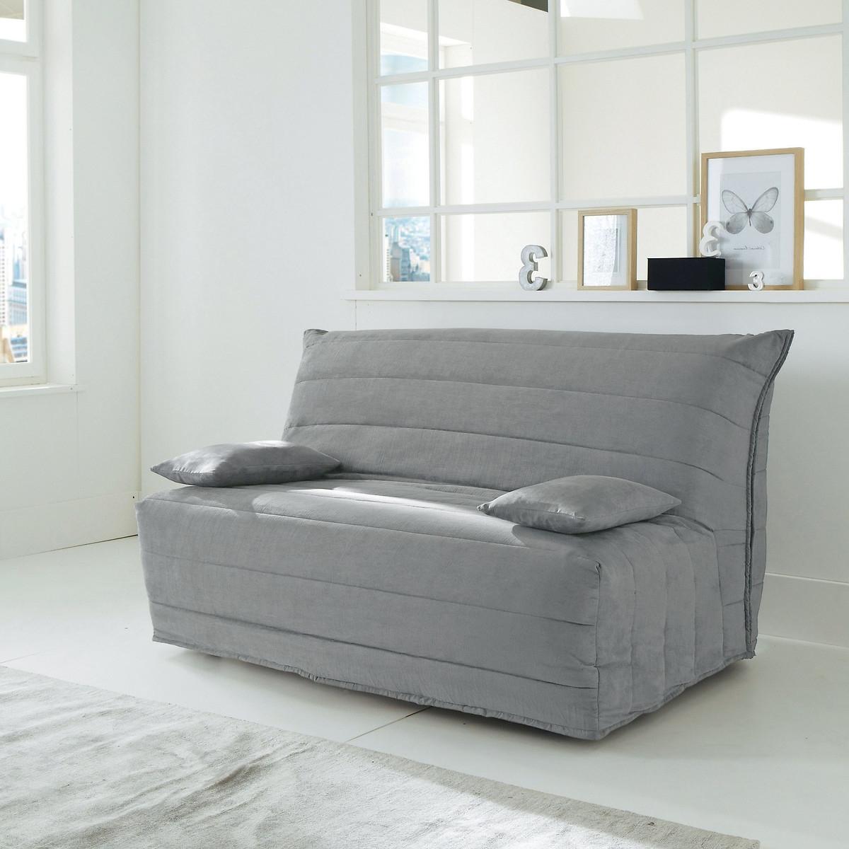 Чехол LaRedoute Для дивана-аккордеона из искусственной замши 140 см серый
