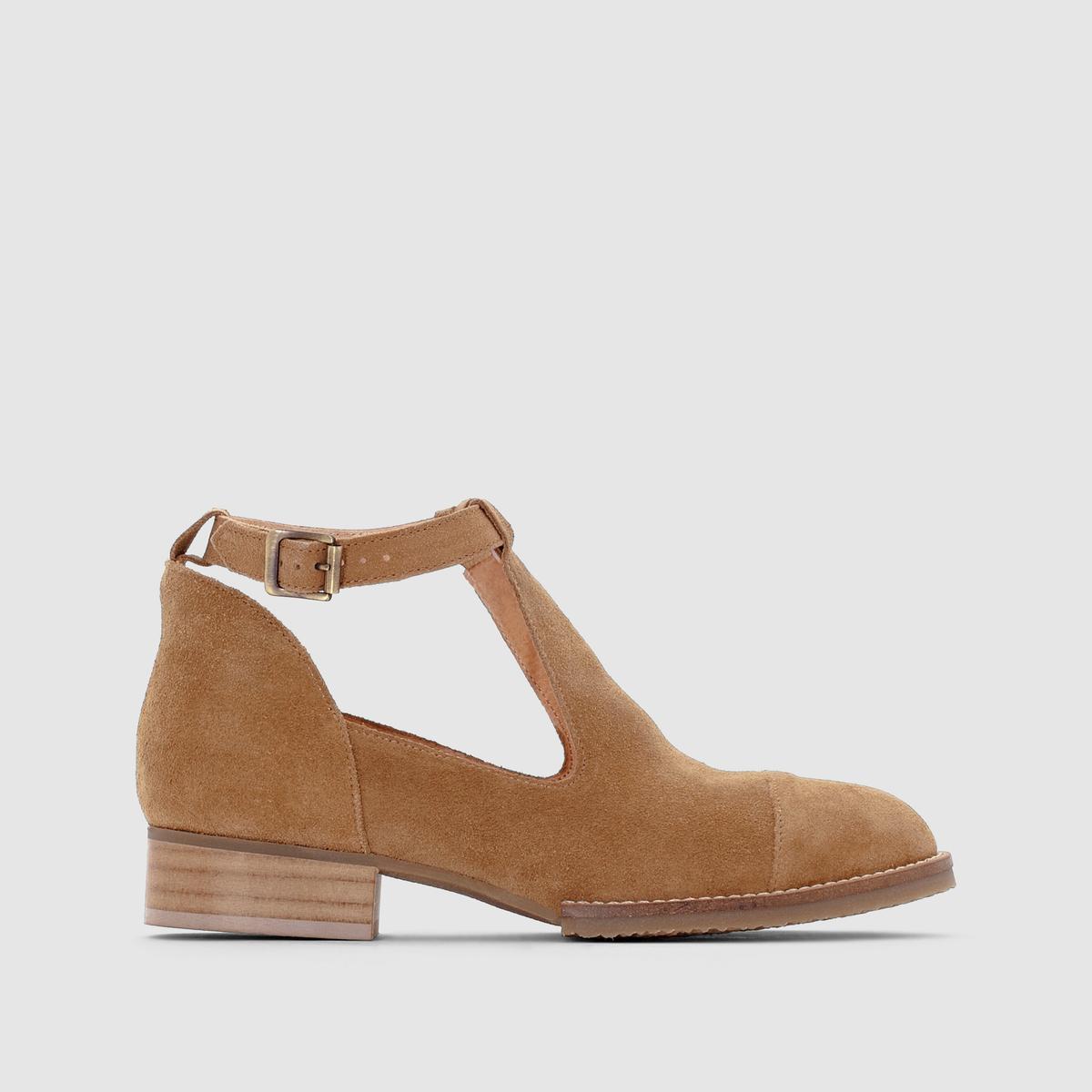 Ботинки ажурные из кожи JONAKПреимущества:   : Слегка завышенные ботинки, стильные и ажурные, в стиле сандалий. Гарантия оригинальности от JONAK.<br><br>Цвет: коньячный,темно-бежевый,черный<br>Размер: 37.39