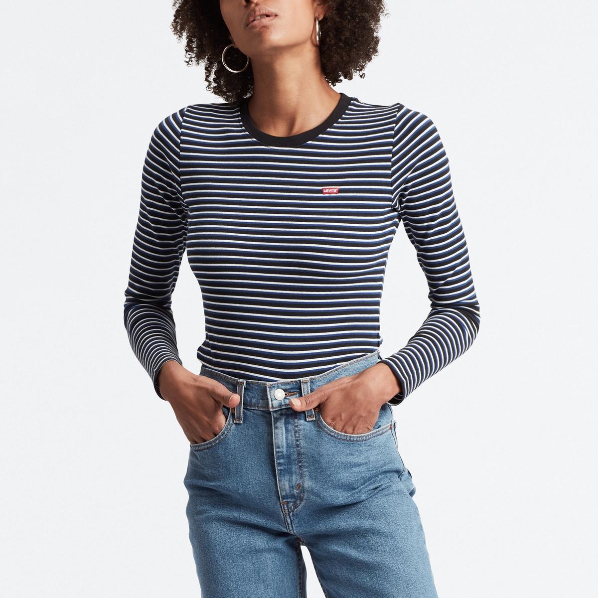 Camiseta de manga larga a rayas