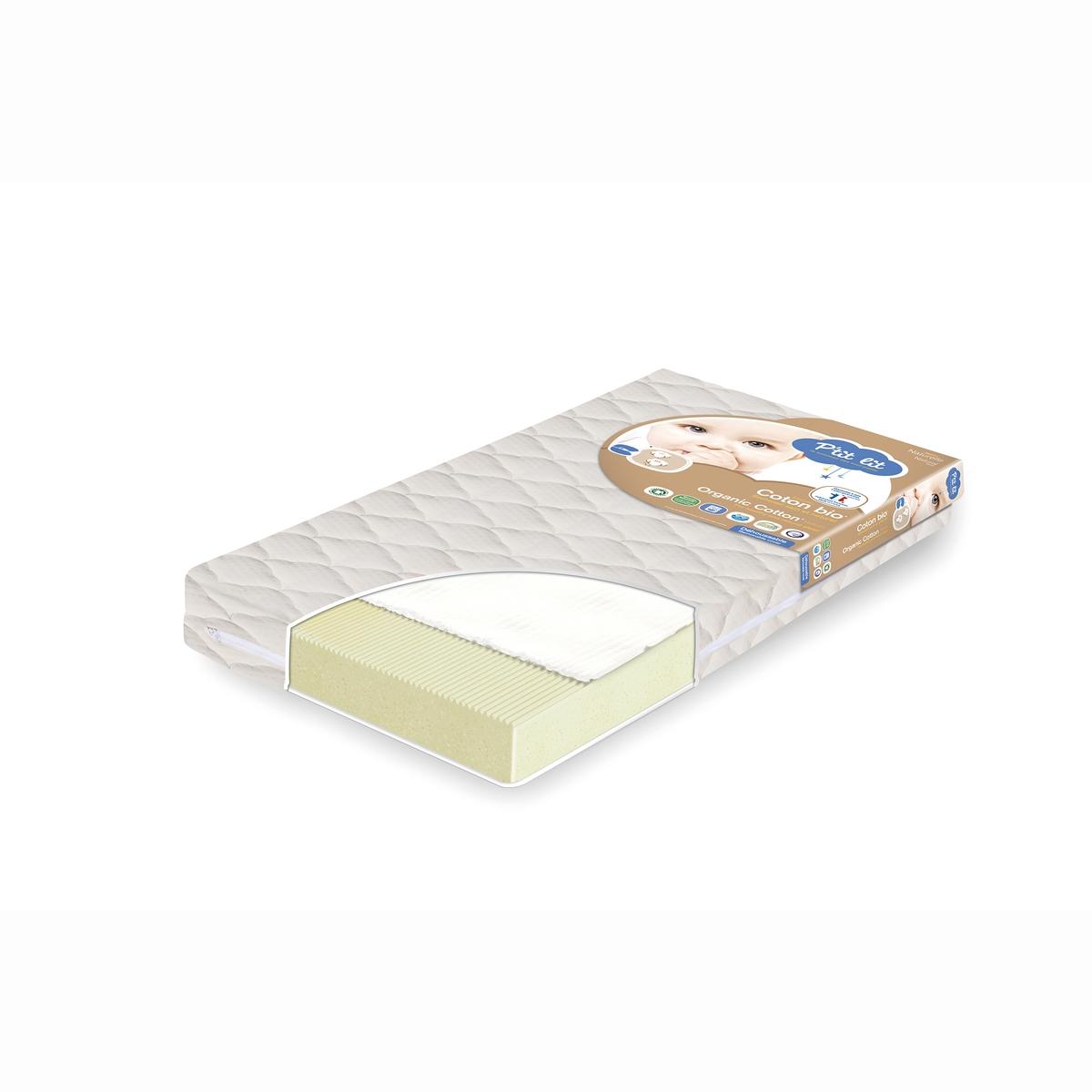 Colchón para bebé de algodón ecológico - P'TIT LIT