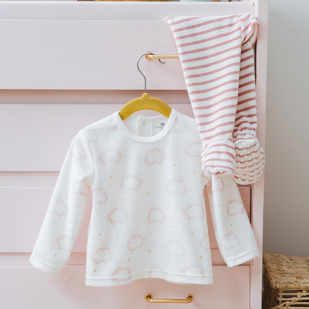 Lot de 2 pyjamas 2 pièces en velours 6 mois-4 ans