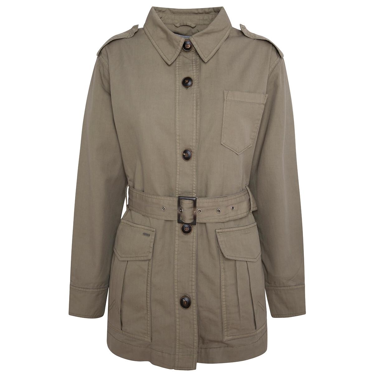 Куртка La Redoute В стиле милитари с воротником-стойкой M каштановый свитшот la redoute с логотипом в винтажном стиле la redoute m белый