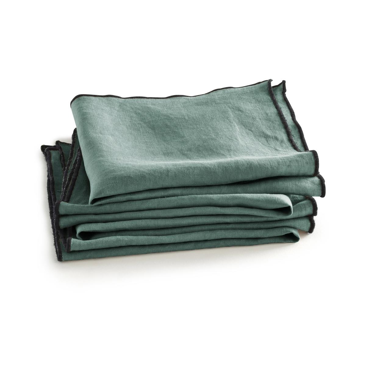 Салфетки La Redoute Suzy из льна комплект из шт комплект из 4 зеленый цены
