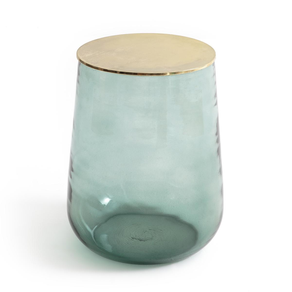Столик журнальный из стекла, Conop?eЖурнальный столик  Conop?e. Легкий и воздушный столик внесет яркий штрих в интерьер гостиной. Верх может быть стеклянным или металлическим, на Ваш выбор. Столик также можно использовать как прикроватный. Ручное производство стекла, каждая модель уникальна.Описание : - Из крашеного стекла- Столешница из металлаРазмеры :- ? сверху 36, ? снизу (со стороны металлической пластины) 30,4 x В.45 смРазмеры и вес упаковки: - Ш.49 x В.61 x Г.49 см, 12,5 кг<br><br>Цвет: Аквамарин,Свежая мята