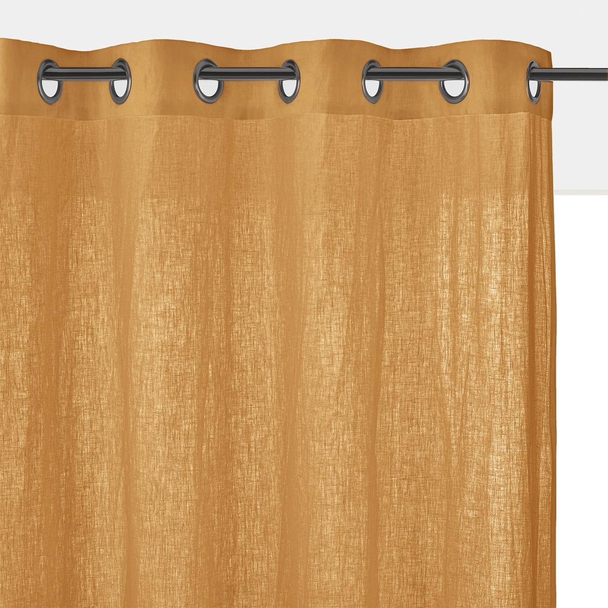 Штора льняная с люверсами, ONEGAОднотонная льняная штора ONEGA отмечена знаком качества Qualit? BEST. Великолепная ткань из 100% льна с легким и естественным жатым эффектом.Характеристики льняной шторы ONEGA :Качество BEST, требование качества. 100% ленПодшитый низ.Отделка люверсами, цвет темно-серый металлик.Отличная стойкость цветов.Размеры льняной шторы ONEGA: Выс. 180 x Шир.135 смВыс. 220 x Шир.135 смВыс.260 x Шир.135 смВыс.350 x Шир.135 смВсю коллекцию ONEGA Вы найдете на laredoute.ru Знак Oeko-Tex® гарантирует, что товары прошли проверку и были изготовлены без применения вредных для здоровья человека веществ.<br><br>Цвет: антрацит,белый,бледный сине-зеленый,зеленый,прусский синий,розовая пудра,серо-бежевый,терракота<br>Размер: 260 x 135 см