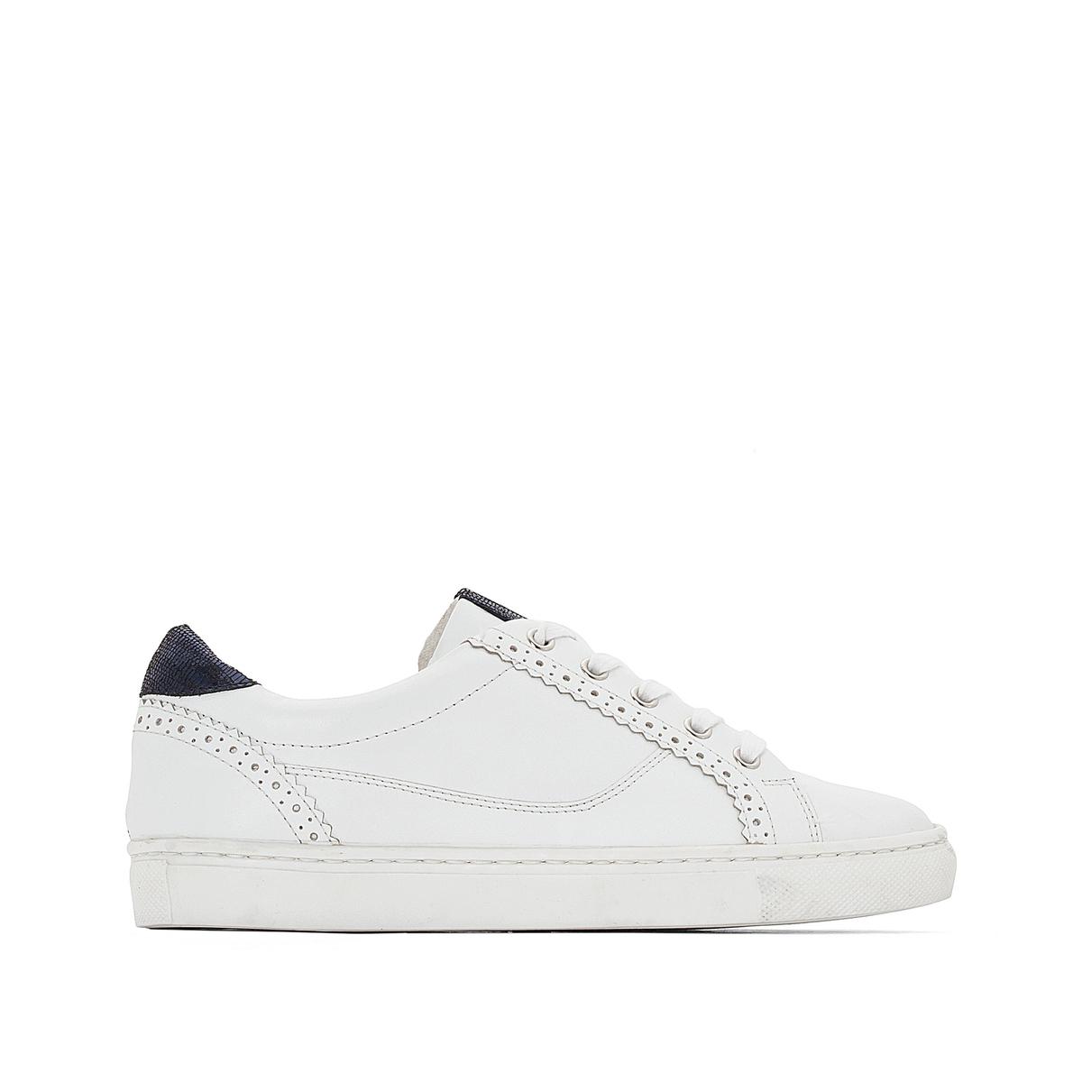 Кеды кожаныеДетали  • Назначение: спортивная обувь   • Плоский каблук   • Высота каблука : 0 см •  Застежка  : шнуровка •  Гладкая отделка Состав и уход   • Верх/Голенище 100% кожа    •  Подкладка 100% хлопок  •  Стелька 100% хлопок<br><br>Цвет: белый + зеленый,белый + синий<br>Размер: 39.37.38