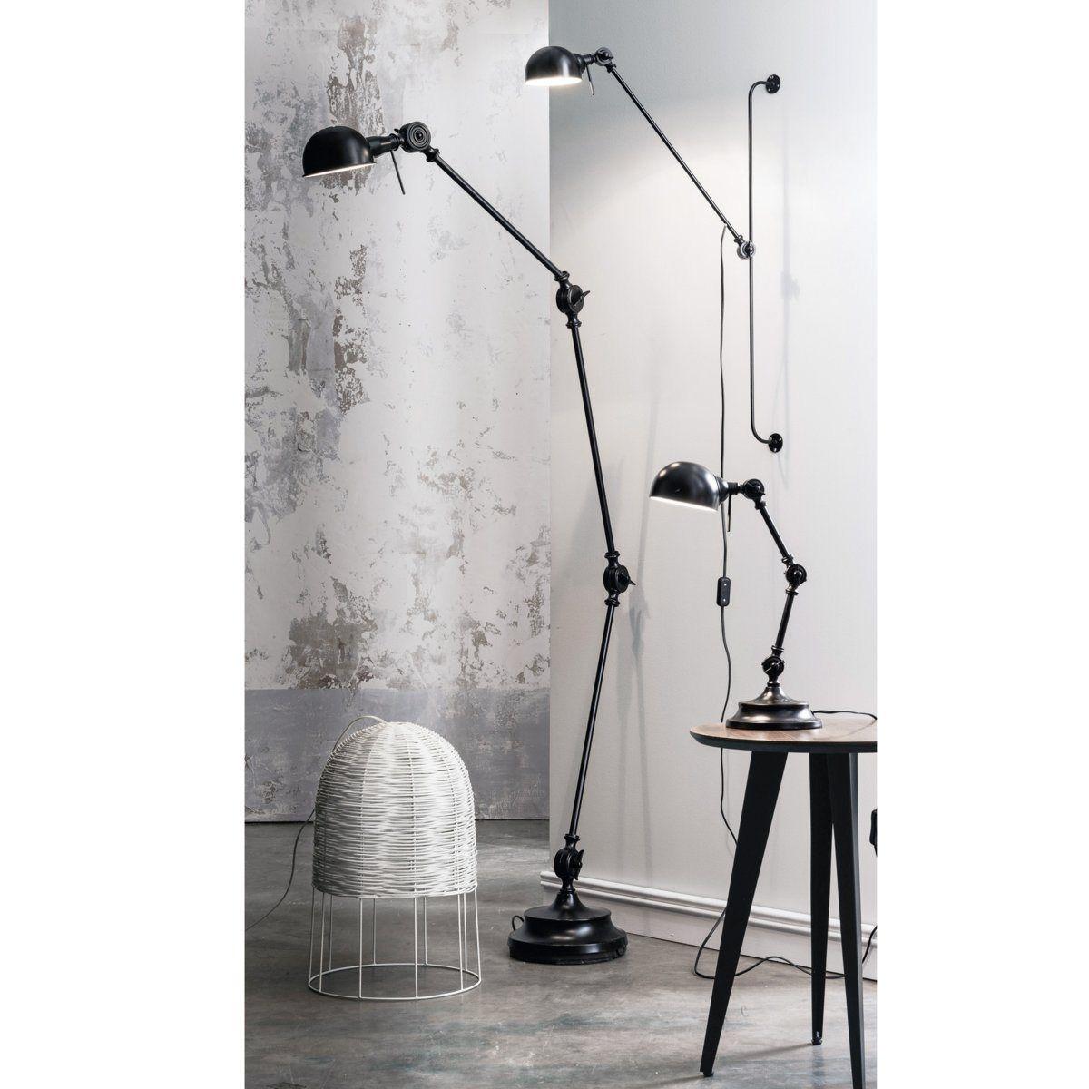 Lampe De Bureau Metal Style Industriel Kikan Noir Mat Interieurs