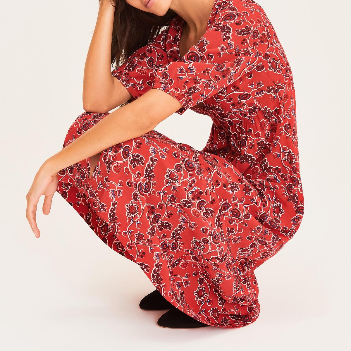 Платье LaRedoute С принтом JAZZ 0(XS) красный