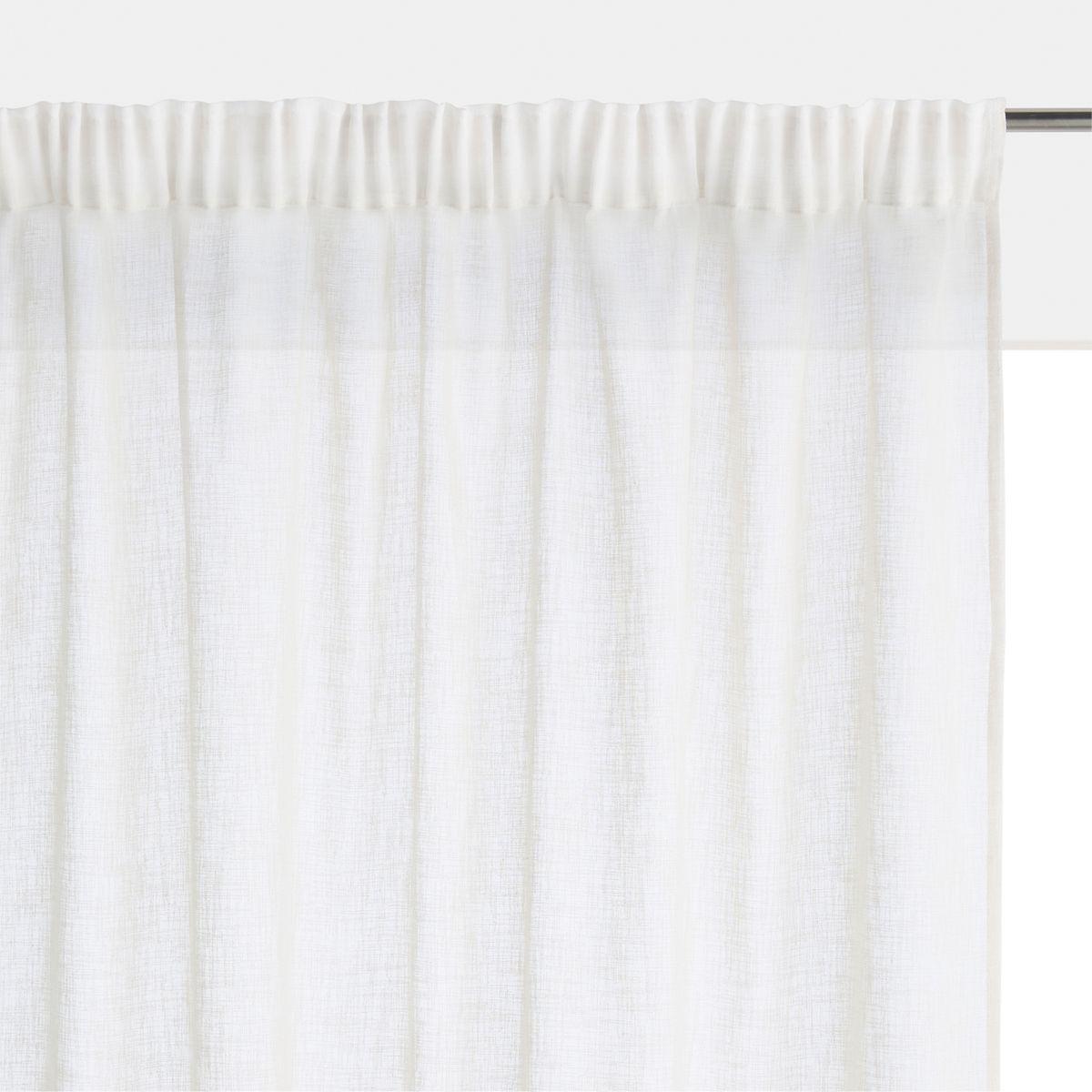 Des rideaux blancs