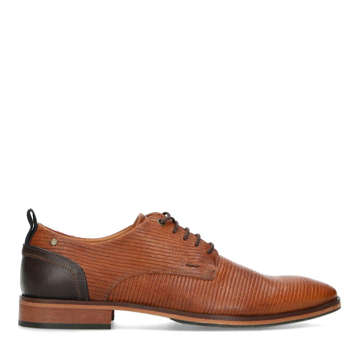 Chaussures à lacets synthétique avec contrefort foncé