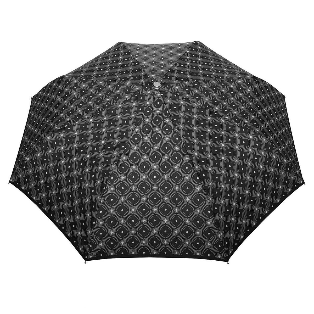Mini parapluie Automatique Macchiato Noir - Fabriqué en europe