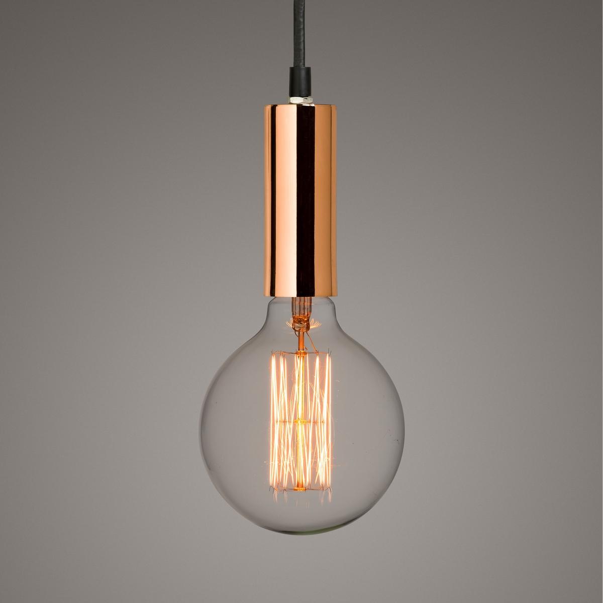 Люстра с покрытием медью LucharbeЛюстра с покрытием медью : воздушный и изящный стиль. Использование декоративной лампы накаливания придает люстре очень актуальный внешний вид.Характеристики :- Патрон E27 для компактной флуоресцентной лампы 17 Вт (продается отдельно)- Электрический кабель с оболочкой из текстиля, длина 1,20 м- Совместима с лампами класса энергопотребления A.Сочетается с лампочками LED с декоративной нитью накала, продающимися на ampm .ruРазмеры : - диаметр 4.3 x высота 12 см<br><br>Цвет: латунь,медный<br>Размер: единый размер