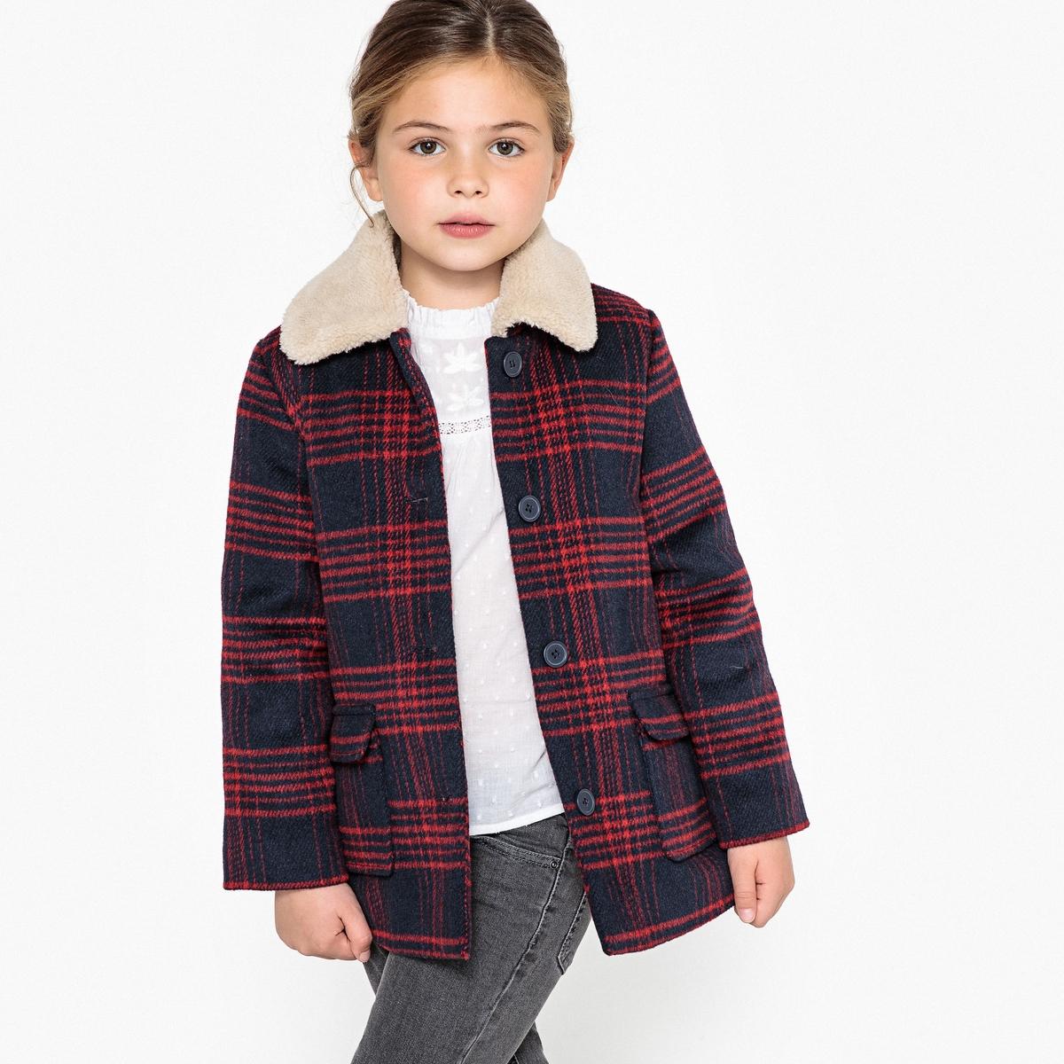Пальто средней длины с пиджачным воротником 3-12 лет La Redoute Collections