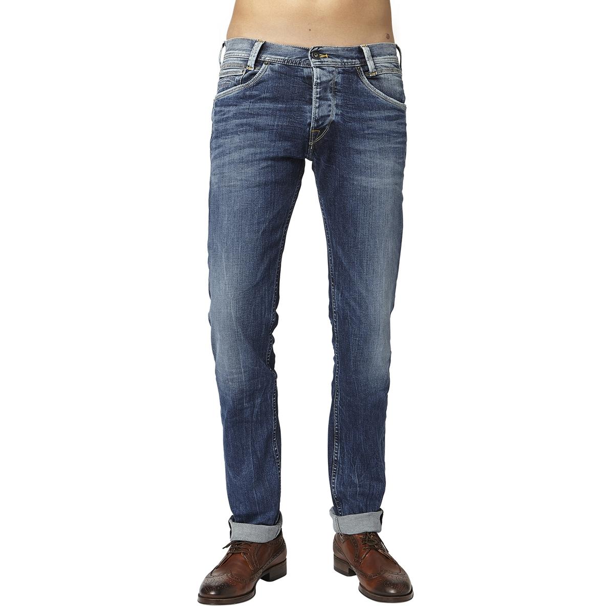 Джинсы La Redoute Прямого покроя обтягивающие SPIKE 29/32 синий джинсы женские oodji ultra цвет темно синий джинс 12103156 46787 7900w размер 29 32 48 32