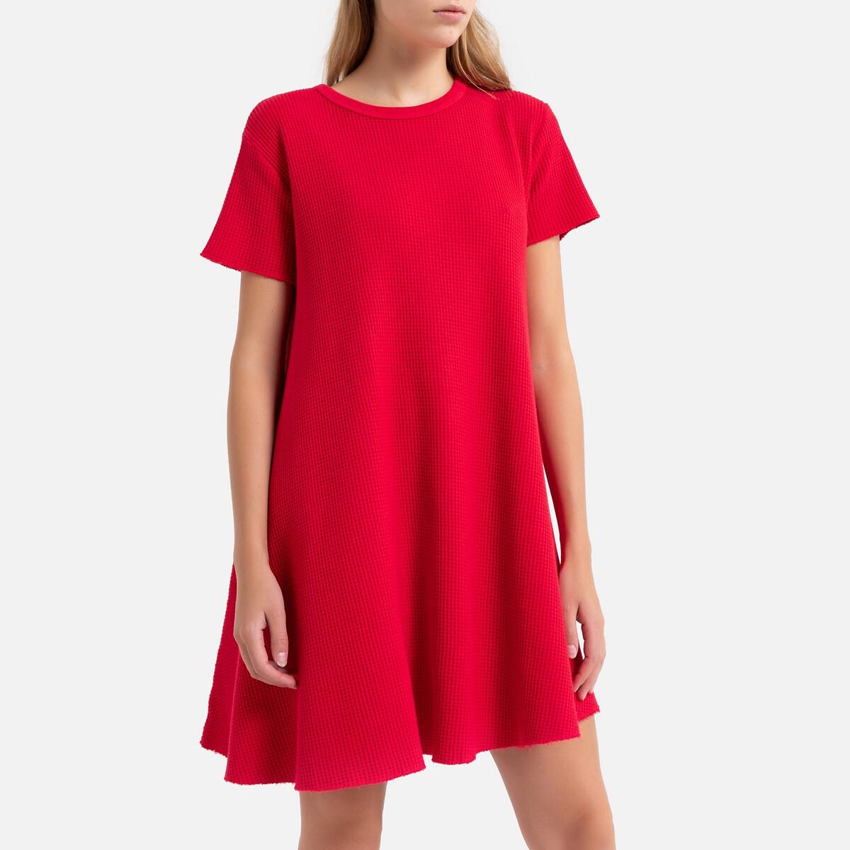 Платье La Redoute Расклешенное с короткими рукавами BOWILOVE M/L красный