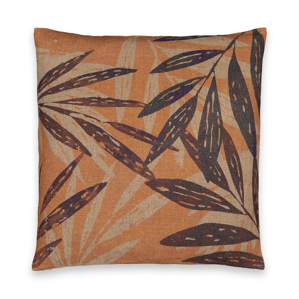 Чехол LaRedoute На подушку из льна Anagi 50 x 50 см оранжевый