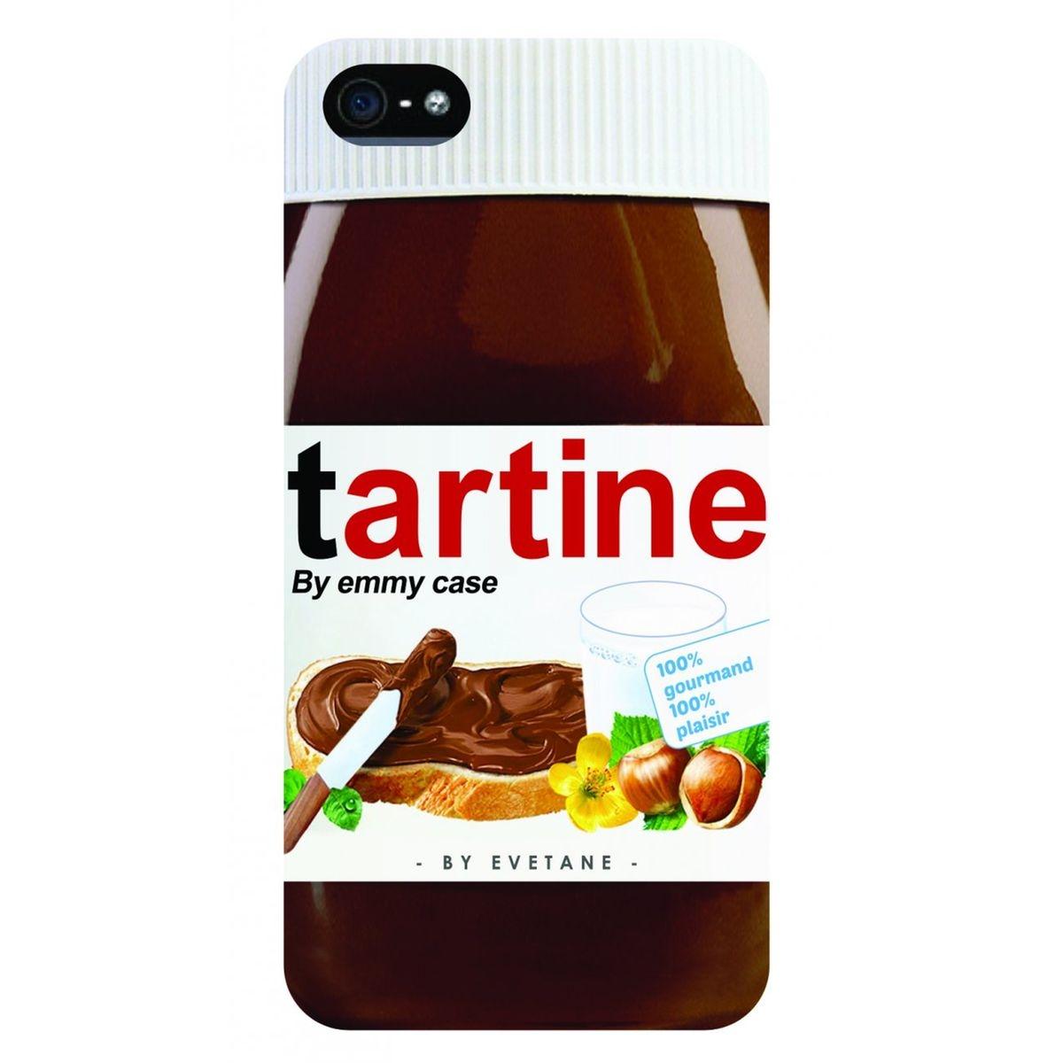 Coque iPhone SE / 5S / 5 rigide transparente, Tartine, Evetane®
