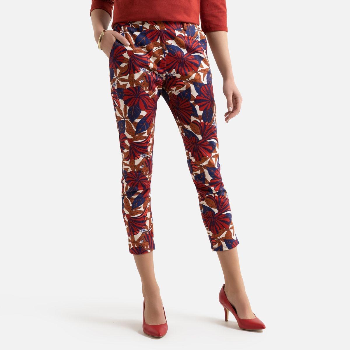 Pantalon 7/8ème slim, imprimé floral