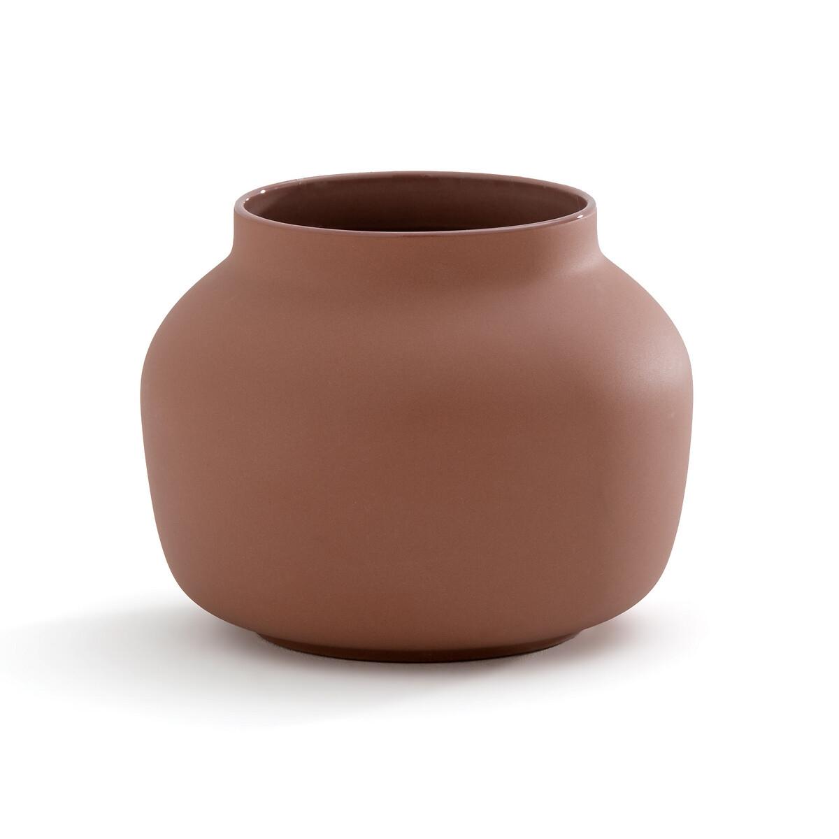 Ваза La Redoute Из матовой керамики Sira единый размер каштановый миски la redoute из эмалированной керамики attale единый размер каштановый